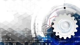 Wetenschappelijke Toekomstige Technologie Voor Bedrijfspresentatie Royalty-vrije Stock Foto
