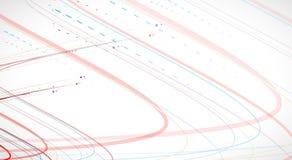 Wetenschappelijke Toekomstige Technologie Voor Bedrijfspresentatie Vlieger, Royalty-vrije Stock Afbeeldingen