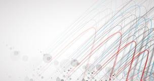 Wetenschappelijke Toekomstige Technologie Voor Bedrijfspresentatie Vlieger, Stock Afbeelding