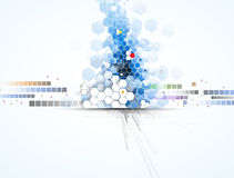 Wetenschappelijke Toekomstige Technologie Voor Bedrijfspresentatie Vlieger, Royalty-vrije Stock Afbeelding