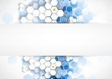 Wetenschappelijke Toekomstige Technologie Voor Bedrijfspresentatie Vlieger, vector illustratie