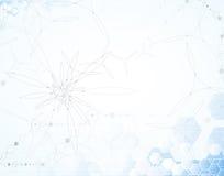 Wetenschappelijke Toekomstige Technologie Voor Bedrijfspresentatie Vlieger, Stock Fotografie