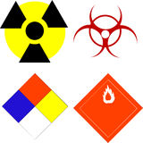 Wetenschappelijke veiligheidssymbolen Royalty-vrije Stock Foto's