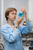 Wetenschapper, fles Royalty-vrije Stock Afbeelding