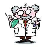 Wetenschapper Illustration; Gekke Wetenschapper Royalty-vrije Stock Foto