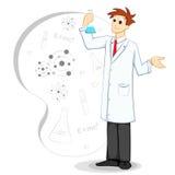 Wetenschapper in Laboratorium Stock Illustratie