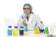 Wetenschapper in laboratorium royalty-vrije stock foto