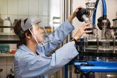 Wetenschapper, laboratorium, zes Royalty-vrije Stock Foto