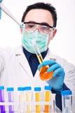 Wetenschapper op het werk Stock Foto's