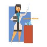 Wetenschapper Woman Abstract Figure Royalty-vrije Stock Foto