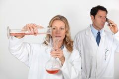 Wetenschappers stock foto's