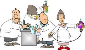 Wetenschappers op het werk Stock Foto