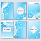 Wetenschaps vectorachtergrond Moderne vectormalplaatjes voor brochure Stock Illustratie