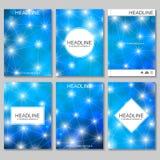 Wetenschaps vectorachtergrond Moderne vectormalplaatjes voor brochure Vector Illustratie