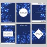 Wetenschaps vectorachtergrond Moderne vectormalplaatjes voor brochure Royalty-vrije Illustratie