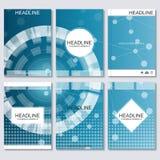 Wetenschaps vectorachtergrond Moderne vectormalplaatjes voor brochure, vlieger Stock Illustratie