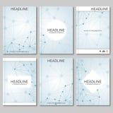 Wetenschaps vectorachtergrond Moderne vectormalplaatjes voor brochure, vlieger Royalty-vrije Illustratie