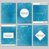 Wetenschaps vectorachtergrond Moderne vectormalplaatjes voor brochure, vlieger, dekkingstijdschrift of rapport in A4 grootte mole Royalty-vrije Illustratie