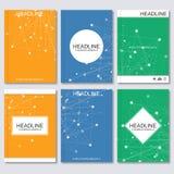 Wetenschaps vectorachtergrond Moderne vectormalplaatjes voor brochure, vlieger, dekkingstijdschrift of rapport in A4 grootte mole Vector Illustratie