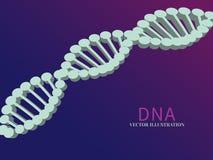 Wetenschapsachtergrond met DNA Royalty-vrije Illustratie