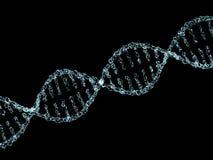 Wetenschapsachtergrond met DNA-molecules van water op zwarte 3d Royalty-vrije Stock Fotografie