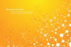 wetenschapsachtergrond, molecule achtergrond genetische en-chemische samenstellingen medische technologie of wetenschappelijk Con royalty-vrije illustratie