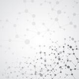 Wetenschapsconcept voor uw ontwerp Verbonden lijnen met punten Royalty-vrije Illustratie