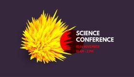 Wetenschapsconferentie Kan voor online cursussen, hoofdklasse, seminarie, presentatie, webinar of lezing worden gebruikt Vector i vector illustratie