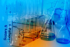 Wetenschapslaboratorium met chemisch thema Royalty-vrije Stock Foto