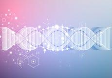 Wetenschapsmalplaatje, behang of banner met een 3D DNA-molecules Royalty-vrije Stock Fotografie
