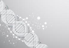 Wetenschapsmalplaatje, behang of banner met een 3D DNA-molecules Royalty-vrije Stock Foto's