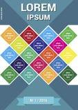 Wetenschapstijdschrift, brochure of boekdekking Stock Foto