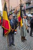 Weterana marsz w Bruges Obraz Royalty Free