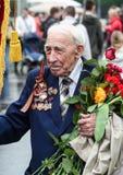 Weterani Drugi wojny światowa zamknięty up świętowania dzień Moscow zwycięstwo Najlepszy wakacje Rosja obraz royalty free