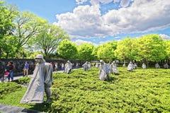Weterani Wojenni w wojna koreańska weteranach Pamiątkowych w washington dc fotografia stock
