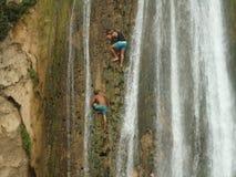 WETERFALL - BEJAI - ALGERIA rampicante Immagini Stock
