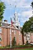 Wetgevende de zaal halve mast van de staat van Dover Delaware royalty-vrije stock fotografie