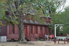Wetherburn's Tavern in Colonial Williamsburg, Virginia Stock Photos