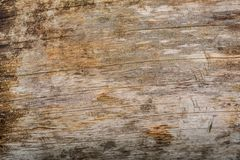 Wethered wood planks texture with scratched paint royalty free stock image