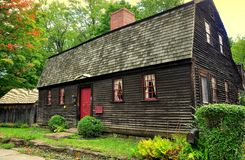 Wethersfield, CT c Дом 1730 Ezra Webb Стоковое Фото