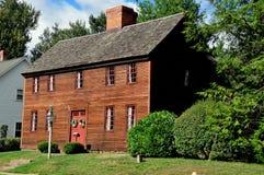 Wethersfield CT: 1718 kapten Newsom House Arkivbild