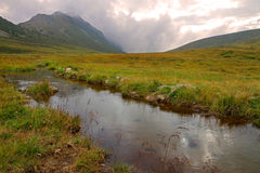 Wetland in the mountains Stock Photo