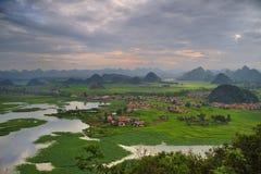 Wetland panorama Stock Photo