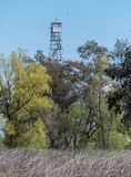 Wetlands observation tower Stock Photo