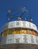 Wetlzeituhr/worldtime clock. Worldtime clock in Alexander Platz, Berlin, Germany, Europe Stock Photos