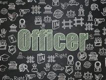 Wetsconcept: Ambtenaar op de achtergrond van de Schoolraad vector illustratie
