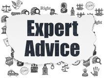 Wetsconcept: Deskundig Advies op Gescheurde Document achtergrond stock illustratie
