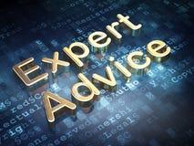Wetsconcept: Gouden Deskundig Advies op digitaal Royalty-vrije Stock Foto