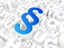 Wetsconcept: Paragraaf op alfabetachtergrond Stock Fotografie