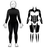 Wetsuit Black Diving Suit Woman Stock Images